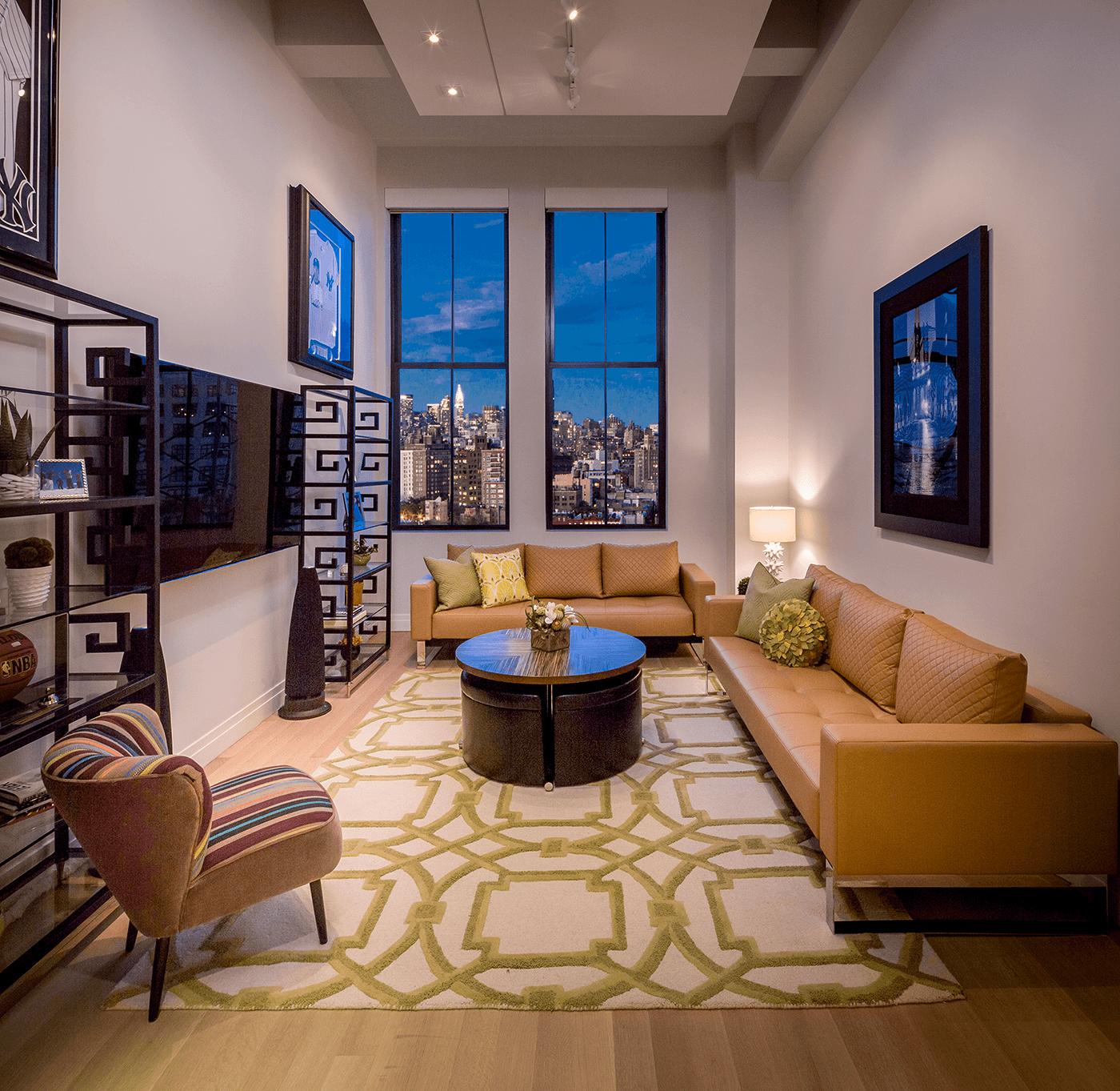 NY Condo Living Area